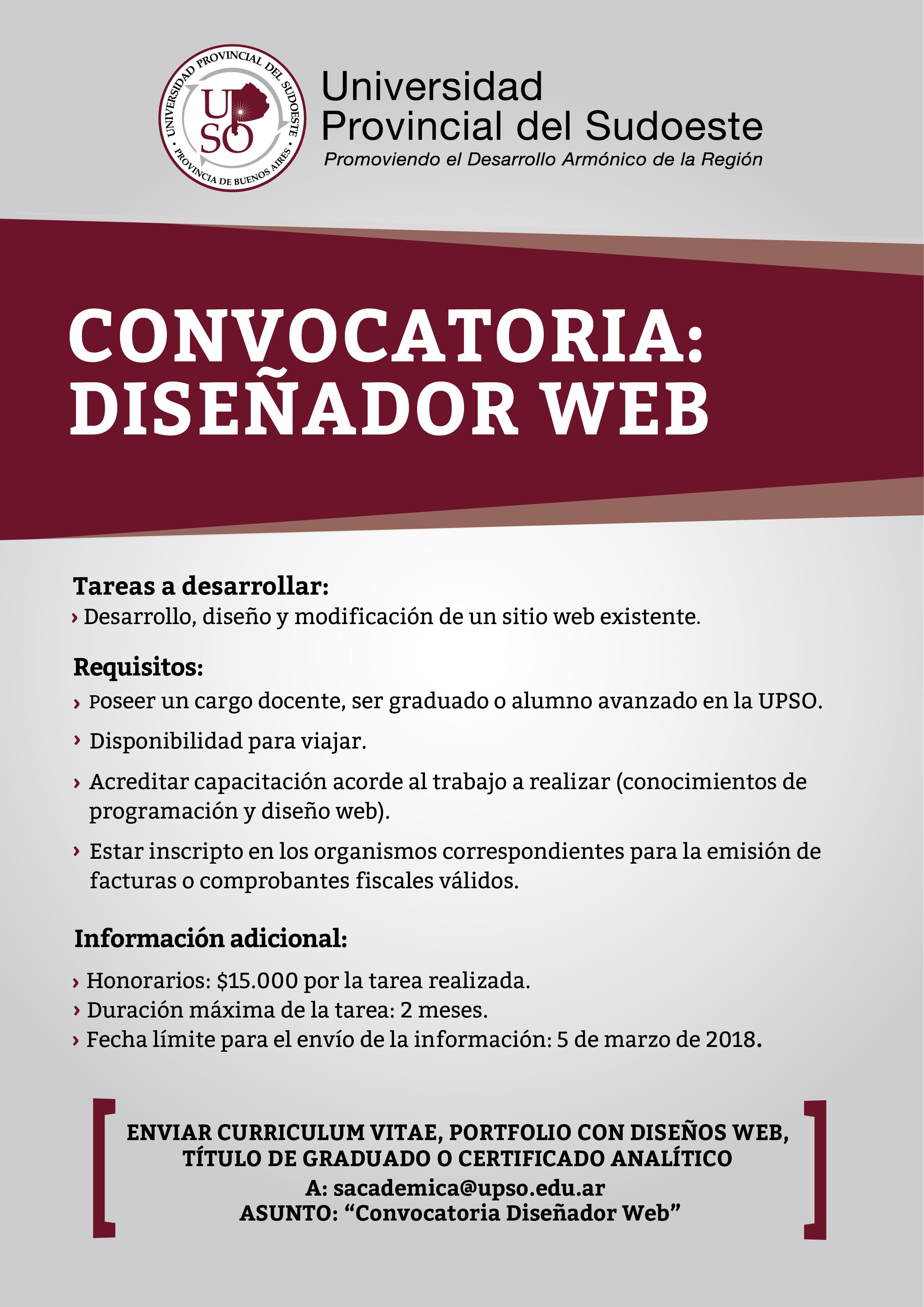 Convocatoria dirigida a docentes graduados y alumnos de for Convocatoria docente