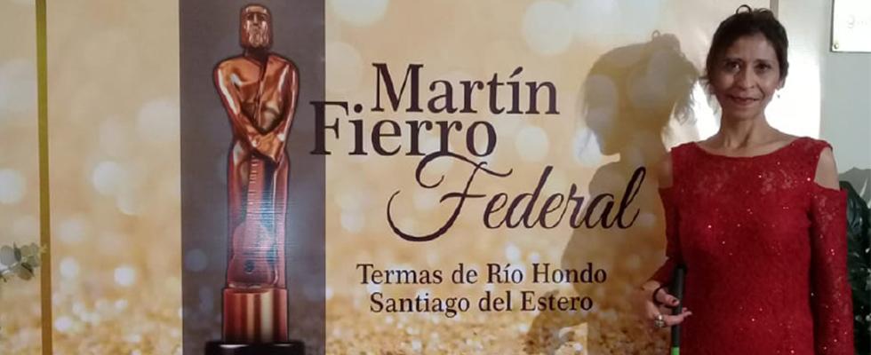 Alumna nominada a los Martín Fierro Federal