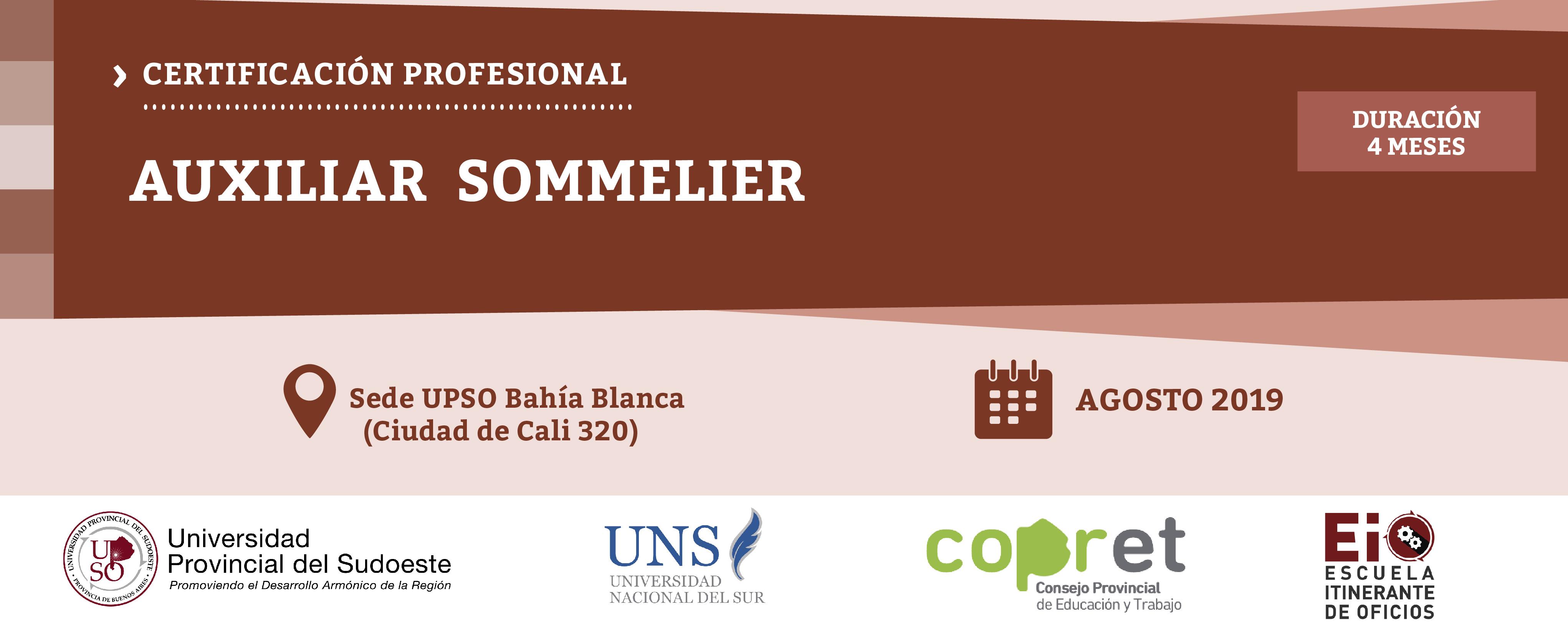 Capacitación Profesional: Auxiliar de Sommelier